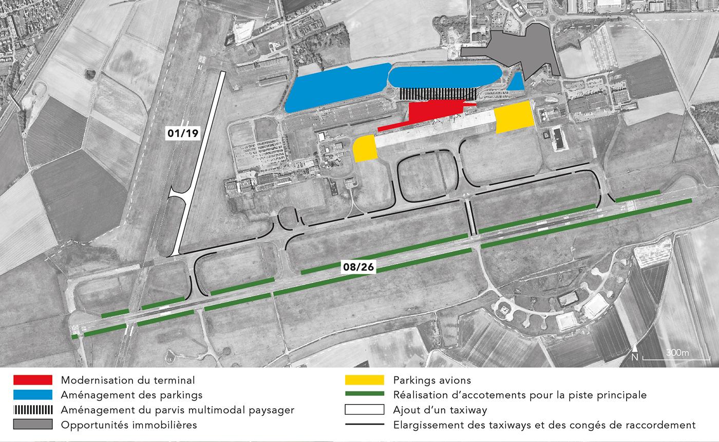 Localisation des zones de travaux